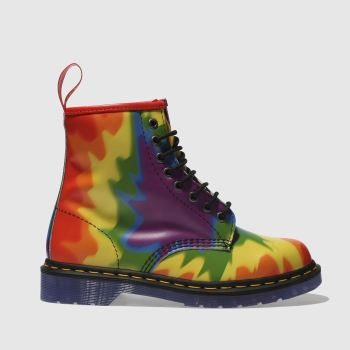 Dr Martens Yellow & Purple 1460 PRIDE Boots