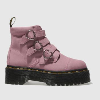 Dr Martens Pink Buckle Boot Lazy Oaf Womens Boots