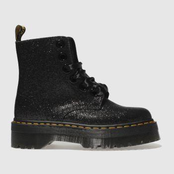 aec4dfafa womens black dr martens lolita molly glitter boots | schuh