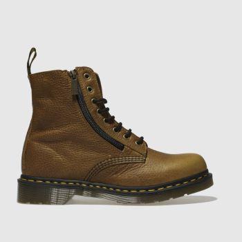 Dr Martens Tan Pascal Zip Womens Boots
