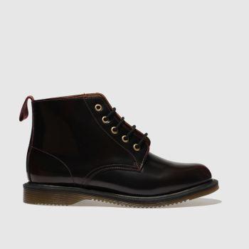 5c0bbbabd10f12 Dr Martens Burgundy Emmeline 5 Eye Womens Boots