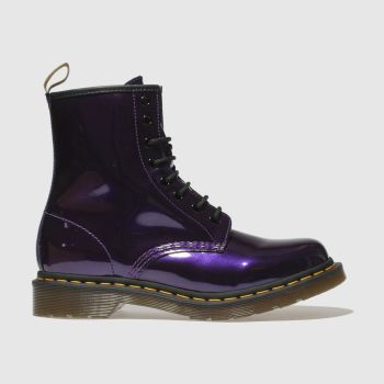 Dr Martens Purple 1460 Vegan Chrome 8 Eye Womens Boots