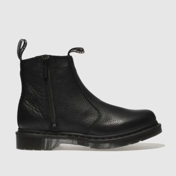 Dr Martens Black 2976 Zip Chelsea Womens Boots