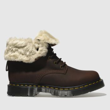 Dr Martens Brown 1460 Kolbert Snowplow Womens Boots