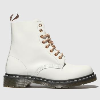 Dr Martens White & Gold 1460 8 Eye Boot Womens Boots