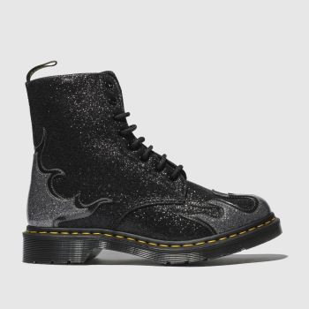 Dr Martens Black 1460 Pascal Flame Womens Boots
