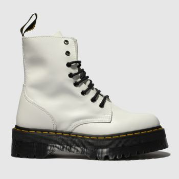 Dr Martens White Jadon 8 Eye c2namevalue::Womens Boots
