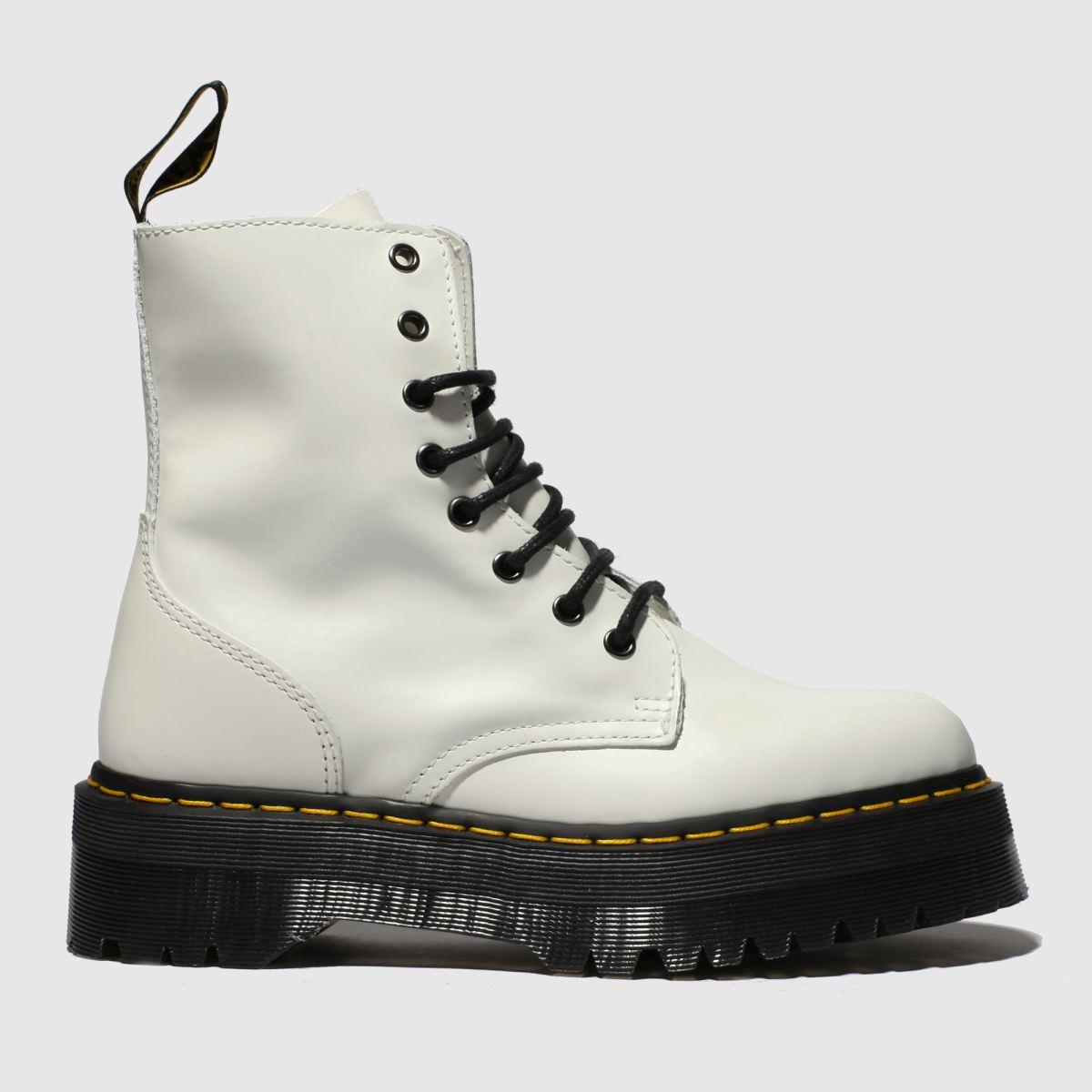 Dr Martens White Jadon 8 Eye Boots