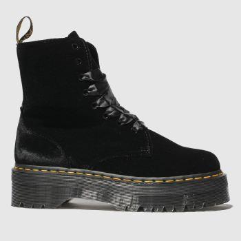 c229e8efd28 Dr Martens Black Jadon 8 Eye Velvet Womens Boots
