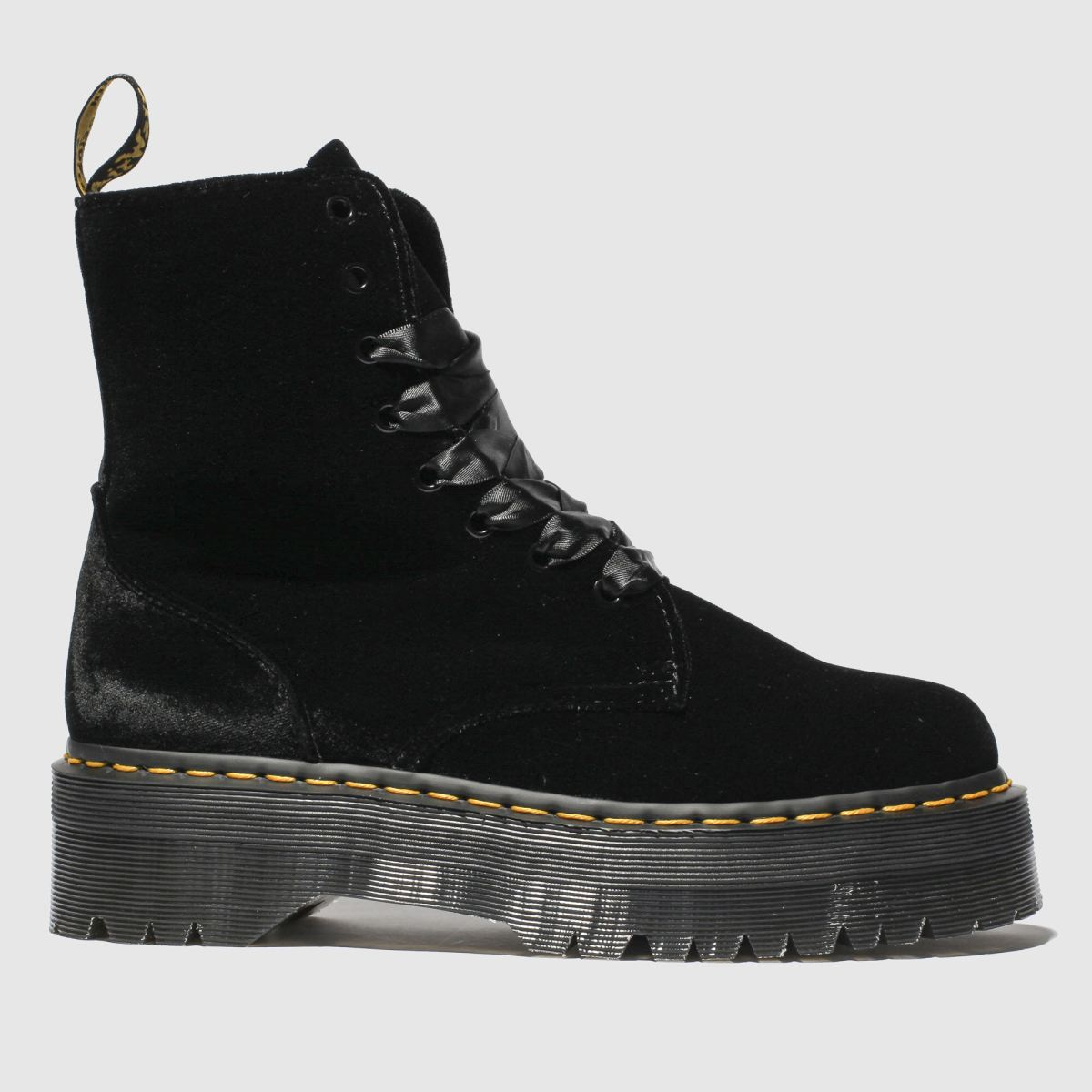Dr Martens Black Jadon 8 Eye Velvet Boots