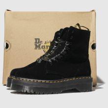 b79fe4088a6411 womens black dr martens jadon 8 eye velvet boots