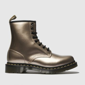 Dr Martens Gold 1460 Vegan Chrome 8 Eye Womens Boots