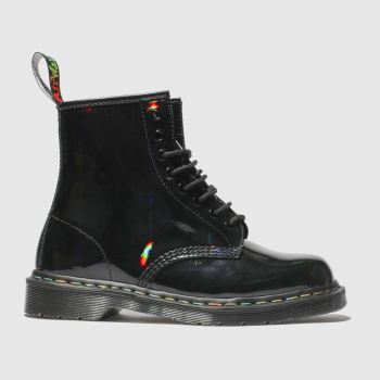 9f59f2e8af52 Dr Martens Black 1460 8 Eye Rainbow Boot Womens Boots