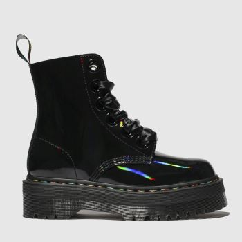 f6e8499e1ea Dr Martens Black 1460 Molly Rainbow 8 Eye Womens Boots