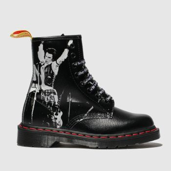 Dr Martens Black & White 1460 8 Eye X Sex Pistols Womens Boots