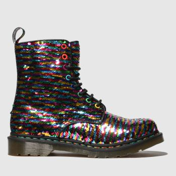 Dr Martens Pink & Blue 1460 Pascal Sequin Womens Boots