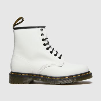 Dr Martens White 1460 8 Eye Womens Boots