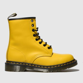 Dr Martens Yellow 1460 8 Eye Womens Boots