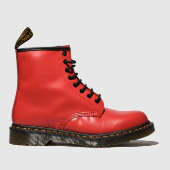 Dr Martens Red 1460 8 Eye Womens Boots