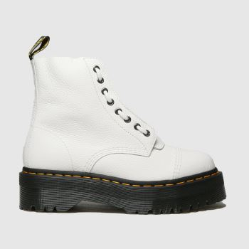 Dr Martens White Sinclair Womens Boots#