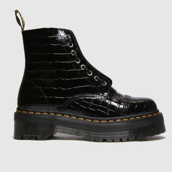 Dr Martens Black Sinclair Croc Womens Boots