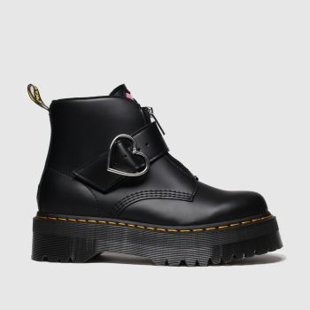 Dr Martens Black Lazy Oaf Buckle Boot Lo Womens Boots