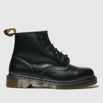 Dr Martens Black 101 6 Eye Womens Boots#