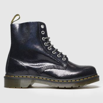 Dr Martens Black 1460 Pascal Duo Chrome Womens Boots