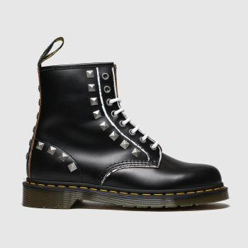 Dr Martens Black & White 1460 Stud Womens Boots