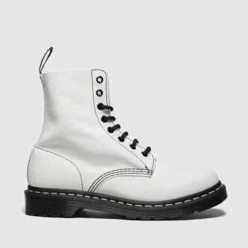 Dr Martens White & Black 1460 Pascal Bw c2namevalue::Womens Boots