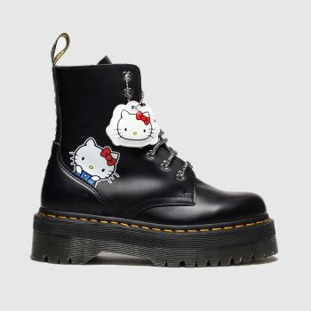 Dr Martens Black Jadon Ii Hello Kitty Womens Boots