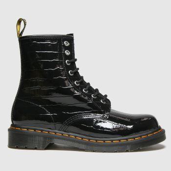 Dr Martens Black 1460 Croc Womens Boots
