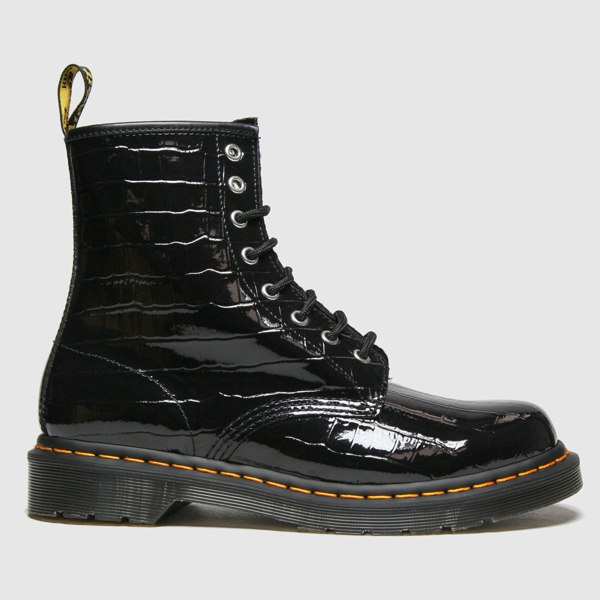 Dr Martens Black 1460 Croc Boots