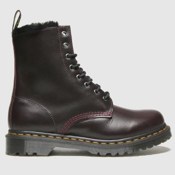 Dr Martens Burgundy 1460 Serena Womens Boots