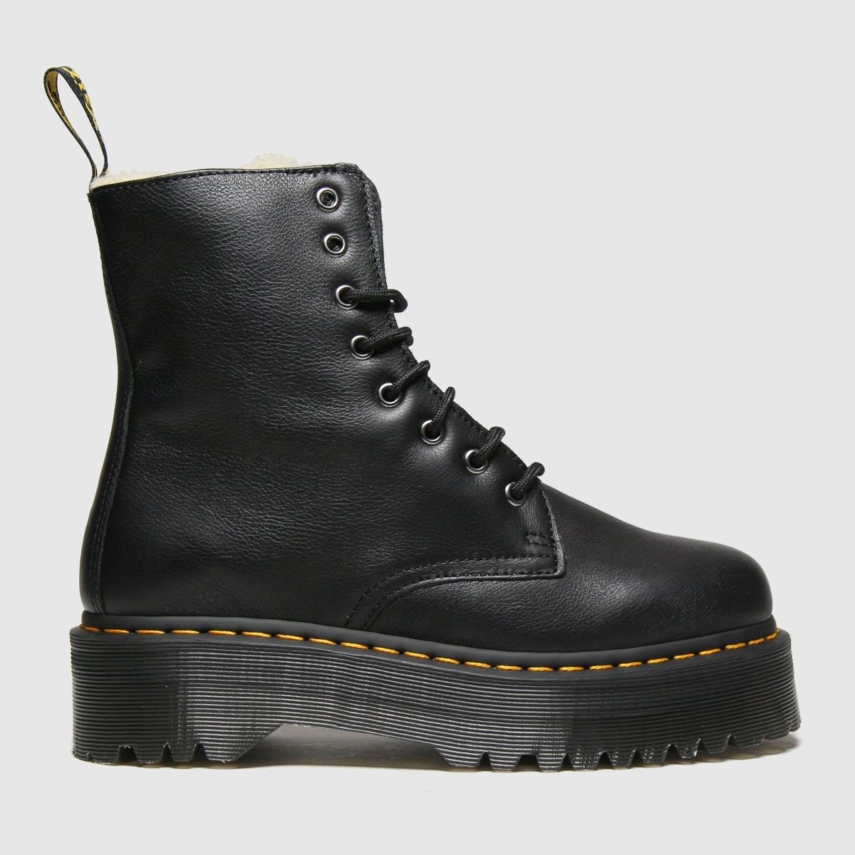 Dr Martens Black Jadon 8 Eye Fur Lined Boots