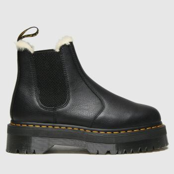 Dr Martens Black 2976 Quad Fur Lined Womens Boots