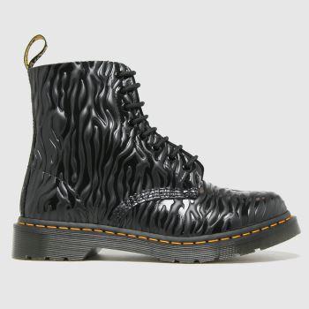 Dr Martens Black 1460 Pascal Zebra Womens Boots