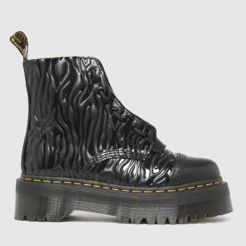 Dr Martens Black Sinclair Zebra Womens Boots