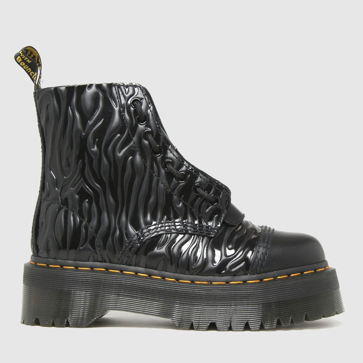 Dr Martens Black Sinclair Zebra Boots