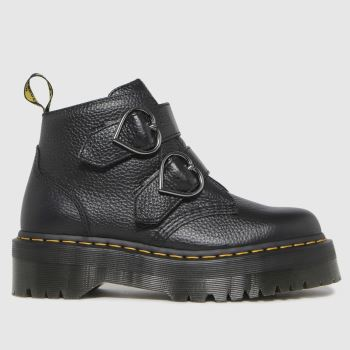 Dr Martens Black Devon Heart Womens Boots