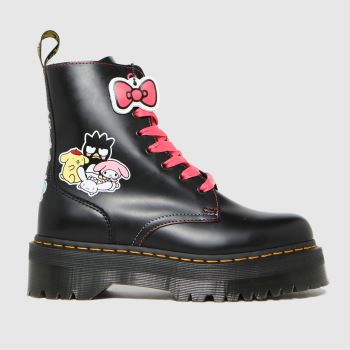 Dr Martens Black Jadon Hello Kitty Womens Boots