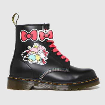 Dr Martens Black 1460 Hello Kitty Womens Boots