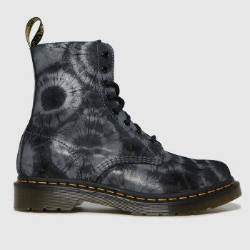 Dr Martens Black 1460 Pascal Tie Dye Womens Boots