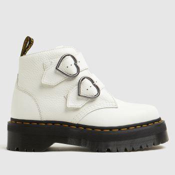 Dr Martens White Devon Heart Womens Boots
