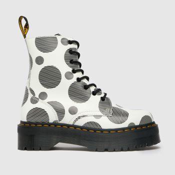 Dr Martens White & Black Jadon Quad Retro Womens Boots