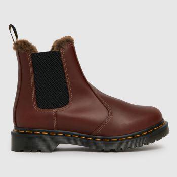 Dr Martens Brown Dm 2976 Leonore Chelsea Womens Boots