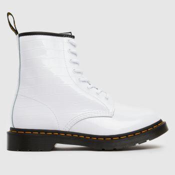 Dr Martens White 1460 Croc Boots