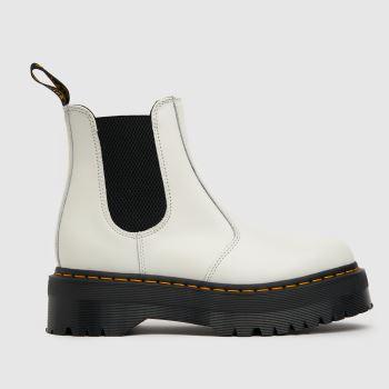 Dr Martens White 2976 Quad Chelsea Womens Boots