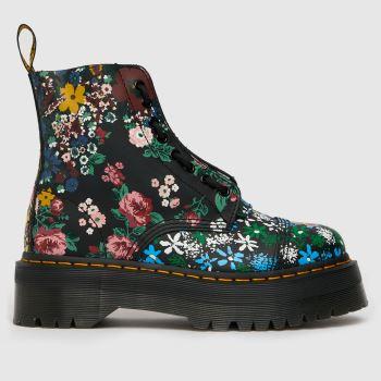 Dr Martens Multi Sinclair Floral Quad Womens Boots