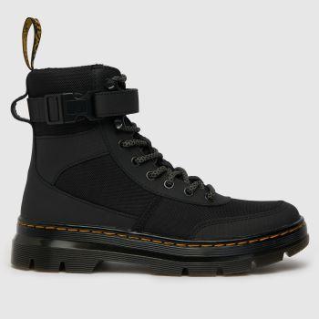 Dr Martens Black Dm Combs Tech Womens Boots